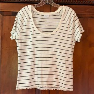 Abound- NWOT Black & White stripped shirt
